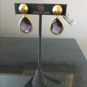 Julie Vos Catalina Earrings Amethyst